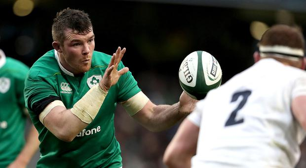 Green giant: Peter O'Mahony takes the game to England in a display that propelled him right into Lions contention