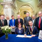 A book of condolence is opened at Belfast City Hall for the victims of the London terror attack on March 23rd 2017 (Photo - Kevin Scott / Belfast Telegraph )