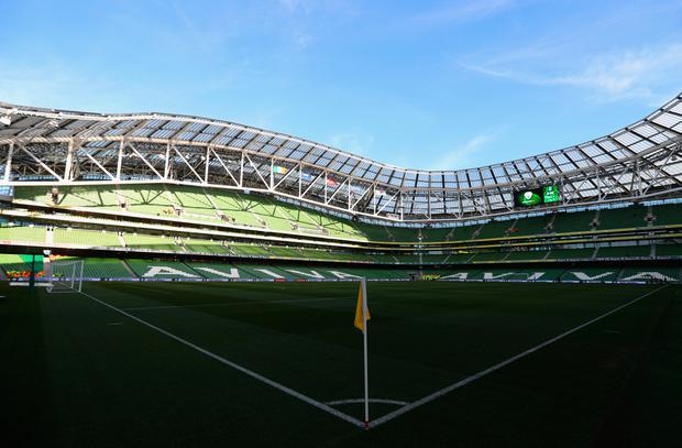 A general view inside the stadium prior to the FIFA 2018 World Cup Qualifier between Republic of Ireland and Wales at Aviva Stadium on March 24, 2017 in Dublin, Ireland. (Photo by Ian Walton/Getty Images)