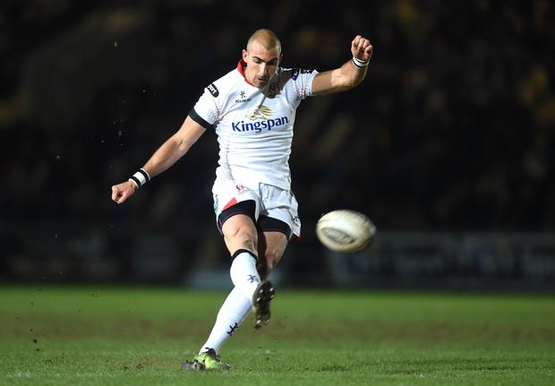 Newport Gwent Dragons v Ulster - Guinness PRO12 - Ruan Pienaar of Ulster kicks at goal. Presseye