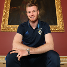 Savouring it: Chris Brunt is enjoying Northern Ireland's World Cup quest after the agony of missing out on the Euro 2016 finals through injury