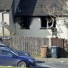 The house in the Culdee Drive area of Armagh where a man died following a fire