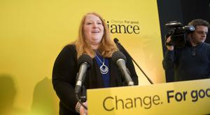 Naomi Long at the Alliance Party conference at the Stormont Hotel. Pic Mark Marlow/Pacemaker