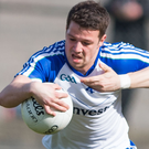 On the ball: Monaghan's Ryan Wylie during the game