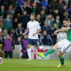 Goal-den boys: Conor Washington slots in the second goal