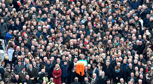 Thousands attended the funeral of Sinn Fein chief Martin McGuinness