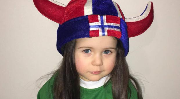 While Zoe's head was for Northern Ireland, her heart will always belong to Norway, says her mum.