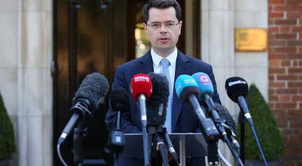 Secretary of State for Northern Ireland James Brokenshire MP pictured at a press conference at Stormont House, Stormont Estate, Belfast. Photo by Kelvin Boyes / Press Eye