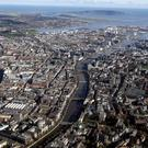 An aerial view of Dublin