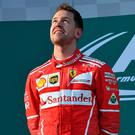 Top man: Sebastian Vettel after Australian GP triumph