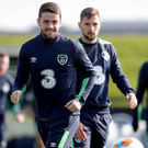 Armband: Robbie Brady will captain the Republic of Ireland in Seamus Coleman's absence tonight