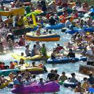 Finland's Kaljakellunta is an annual festival where thousands of participants float down the Kerava/Vantaa river in inflatable dinghies and drink beer