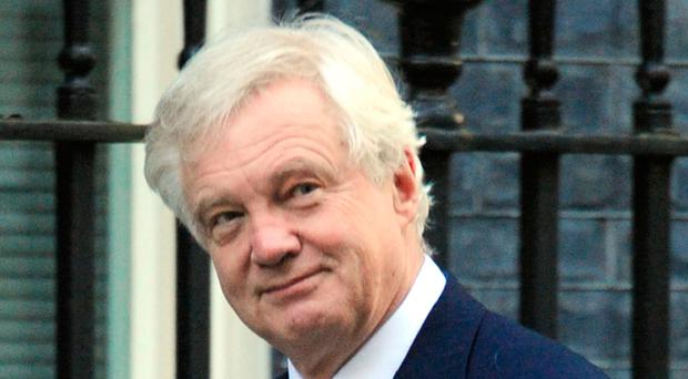 Plans: Brexit Secretary David Davis Photo: Nick Ansell/PA