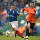 Sore point: Jamie Mulgrew during Linfield's Irish Cup final defeat to Glenavon last May