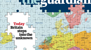 The Guardian's jigsaw front caused a stir.