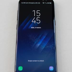 The new Samsung Galaxy S8 on display in London. PA