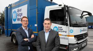 Paddy Graham from BGF (left) and Brett Ross, founder and CEO of RiverRidge