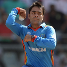 Spinning it out: Afghanistan starlet Rashid Khan has been damaging the Ireland attack