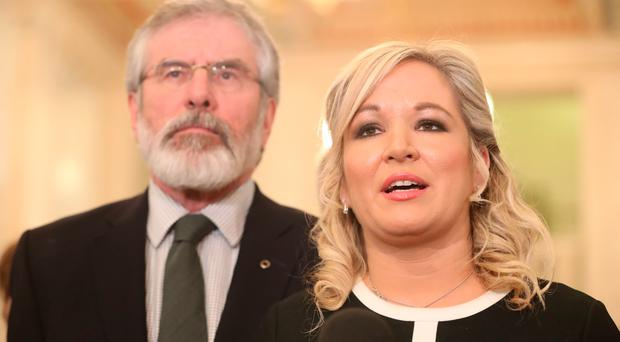 Gerry Adams and not Michelle O'Neill was responsible for the talks collapsing