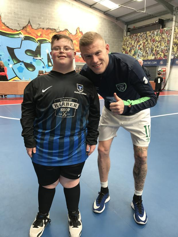 James McClean and pals join the Oxford Bulls
