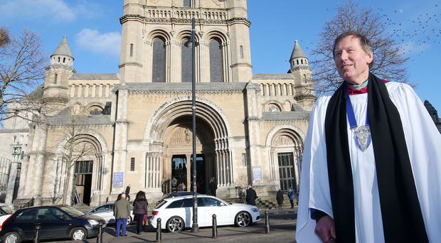 Calling time: Dean Mann outside St Anne's Cathedral in February after he announced he would be leaving