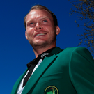 Green for go: Defending champion Danny Willett earlier this week
