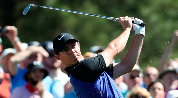 Stressed out: Rory McIlroy, practicing at Augusta, admits he feels the pressure of Masters week