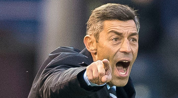 Shouting the odds: new Rangers boss Pedro Caixinha. Photo: Craig Watson/PA