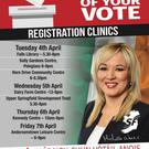 Sinn Fein's leaflet about electoral registration clinics