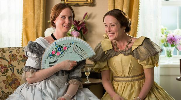 Poetry fan: Cynthia Nixon and Jennifer Ehle in A Quiet Passion. Photo: PA Photo/Soda