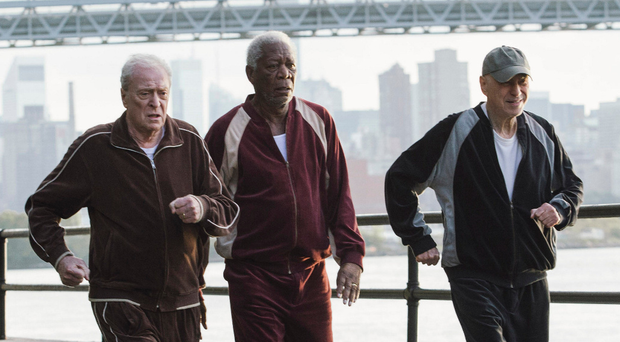 Michael Caine as Joe, Morgan Freeman as Willie and Alan Arkin as Al. Photo: PA Photo/Warner Brothers
