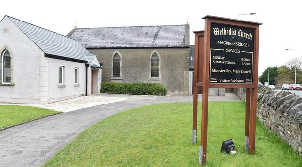 The church opened for people to come together following the tragedy in Co Fermanagh.