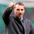 Thumbs up: Brendan Rodgers says he has committed to the 'greatest club in the world'