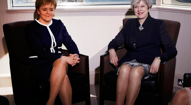 Prime movers: Nicola Sturgeon and Theresa May sparked media comments