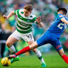 Scoresheet: James Forrest (left) was on target for Celtic on Saturday