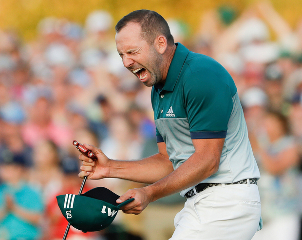 He's done it: Sergio Garcia at moment of Augusta victory