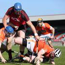 Empty feeling: Armagh stunned Down in the Ulster semi-final, but the crowds stayed away. Photo: Philip Magowan/PressEye