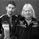 Family ties: Jim Dunlop with son Sam, two generations of the famous road racing dynasty, who feature in a new TV series