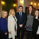 Fainche McAnespey, Claire Hill, Brian Martin, Anna Holmes and Catriona Armstrong are pictured at the Chartered Accountants Ulster Society Young Professionals event Managing Your Online Brand sponsored by Van Rath Recruitment at the Life Centre, Belfast,