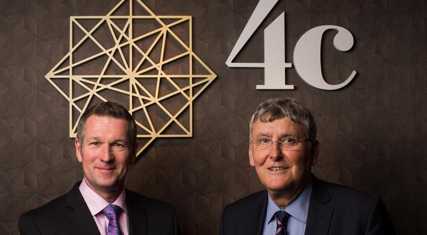 Gary Irvine, founder of 4c Executive Search, with Ian Rainey, who set up MSL Executive Search and Selection