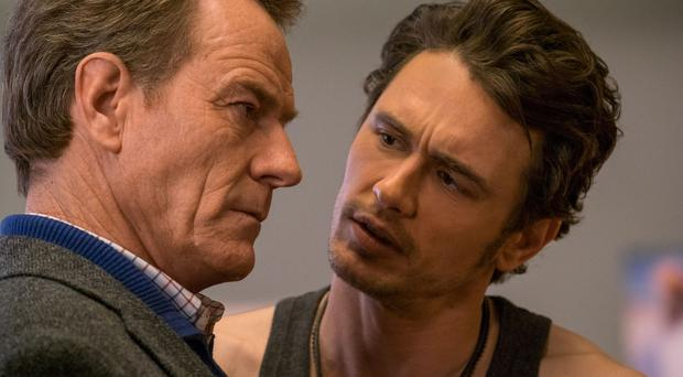 Bryan Cranston as Ned Fleming and James Franco as Laird Mayhew. Photo: PA Photo/Fox UK