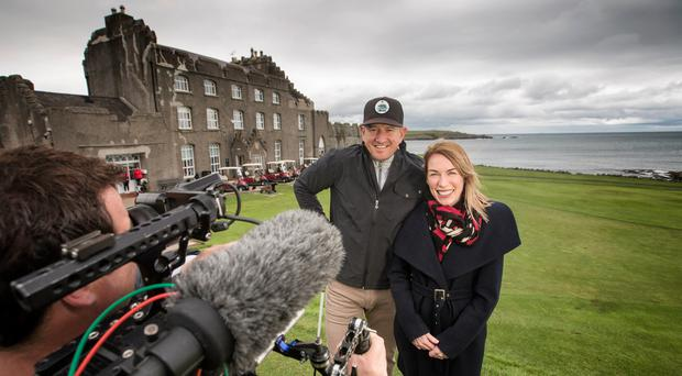 Matt Ginella (left) has filmed a documentary in Northern Ireland for US TV network Golf Channel