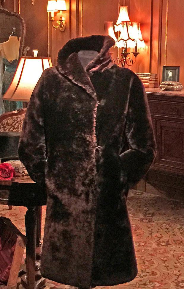 Fur coat worn by a first class stewardess aboard the doomed Titanic which is expected to fetch up to £80,000 at auction. PA