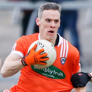 Fitness fight: Mark Shields is eyeing Armagh starting berth. Photo: Philip Magowan/PressEye