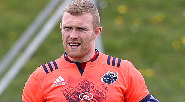 Looking up: Keith Earls is relishing the Euro semi-final. Photo: Donall Farmer/INPHO
