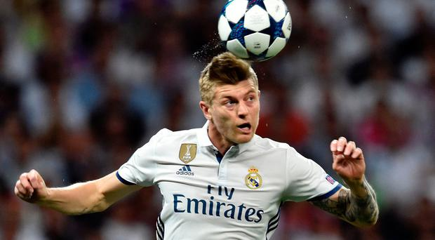Real Madrid's German midfielder Toni Kroos