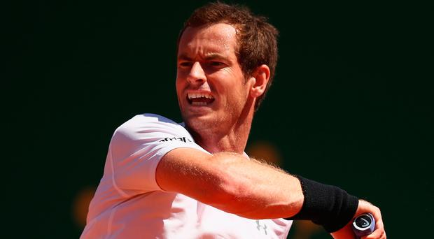 Worth wait: Andy Murray powers to victory over Gilles Muller in Monte Carlo yesterday in his first match in over a month. Photo: Clive Brunskill/Getty Images