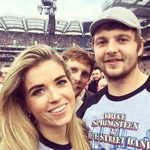 Iain Henderson with his fiancee Suzanne Flanagan.
