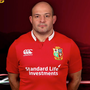 Rory Best in his new kit after being selected for the British and Irish Lions squad.