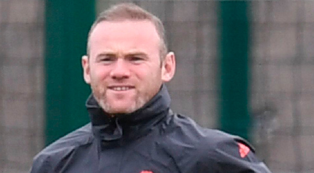 Benchmark: Wayne Rooney back in training yesterday. Photo: Paul Ellis/Getty Images